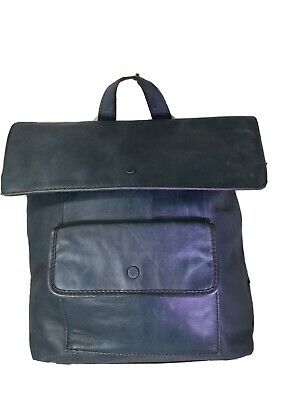 FOSSIL Blue Leather Backpack Purse Bag