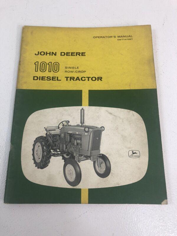 JOHN DEERE JD 1010 DIESEL TRACTOR Operators Manual OM-T14799T