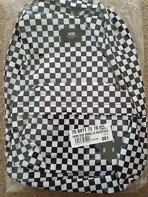 Vans Old Skool III 3 Checkerboard Black White Classic Backpack Rucksack Bag
