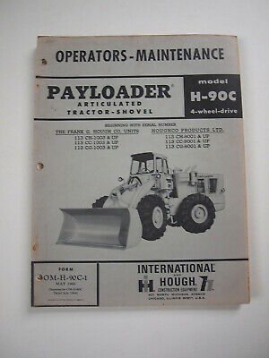 Ih International Hough H-90c Front-end Wheel Pay Loader Tractor Operator Manual