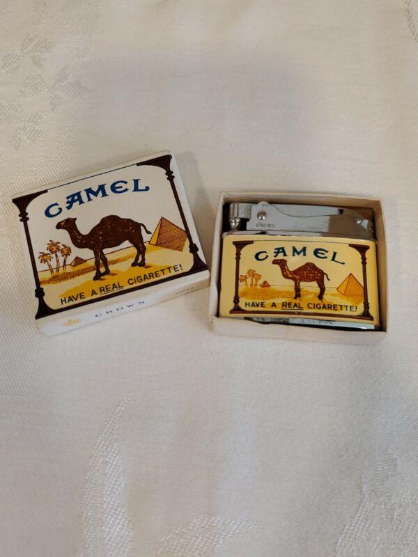 VINTAGE CAMEL CIGARETTE ADVERTISEMENT LIGHTER CROWN CHROME CLASSIC