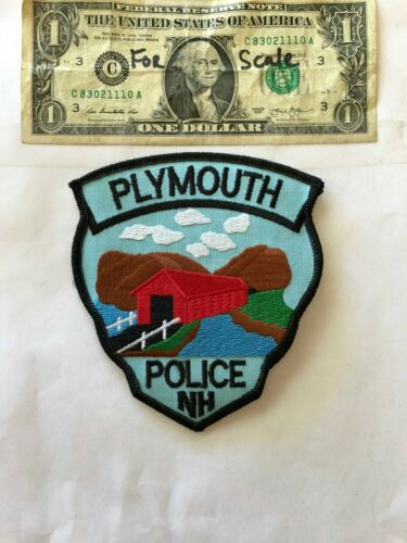 Plymouth New Hampshire Police Patch un-sewn in mint shape