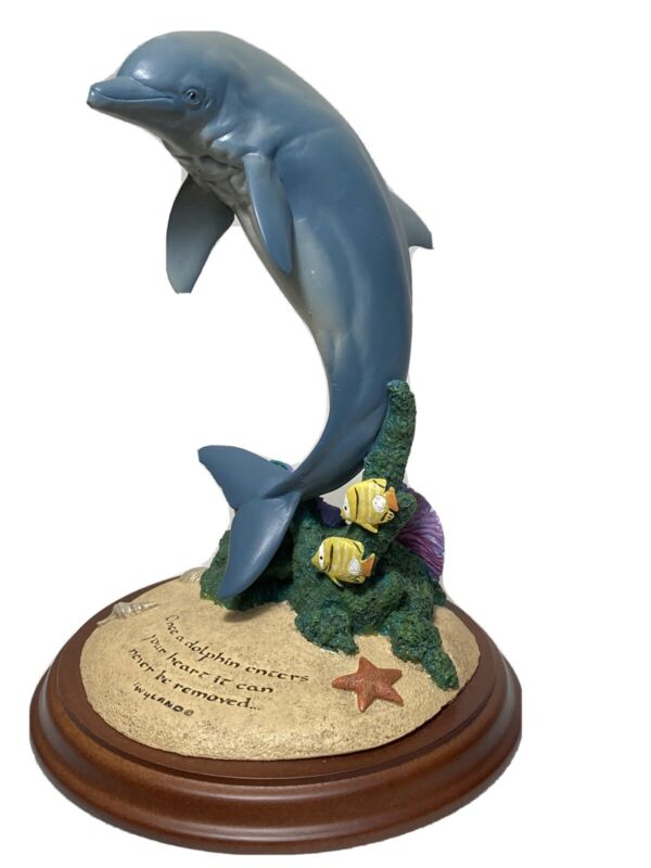 Wyland Dolphin sculpture Encore E16000 Dolphing World 2002