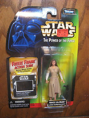 Star Wars Power of the Force - Princess Leia in Outfit w/Freeze Frame Slide 1997