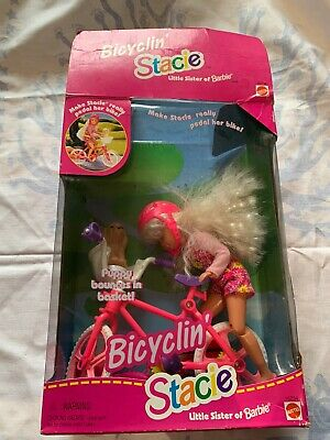 Vintage Barbie Bicyclin' Stacie Little Sister Bicycling 1996
