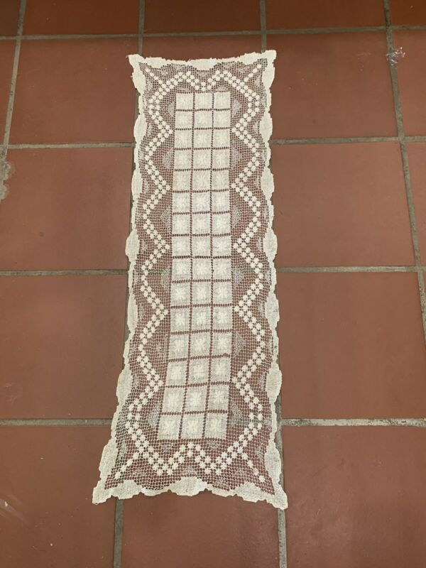 Antique lace table runner