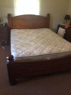 Solid timber queen bed Toowoomba 4350 Toowoomba City Preview