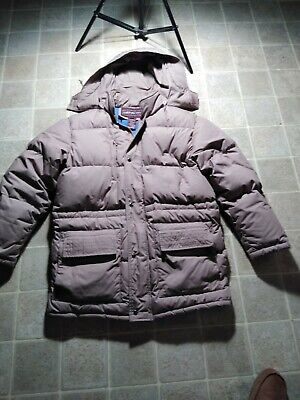 EVAN-PICONE Outerwear Jacket Men's size L Duck Down Khaki / Blue Hooded Puffer ()