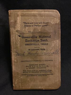 1930s Handbags and Purses Fashion Vintage 1930s GREENVILLE NATIONAL EXCHANGE BANK Texas Ledger Pocketbook $12.95 AT vintagedancer.com