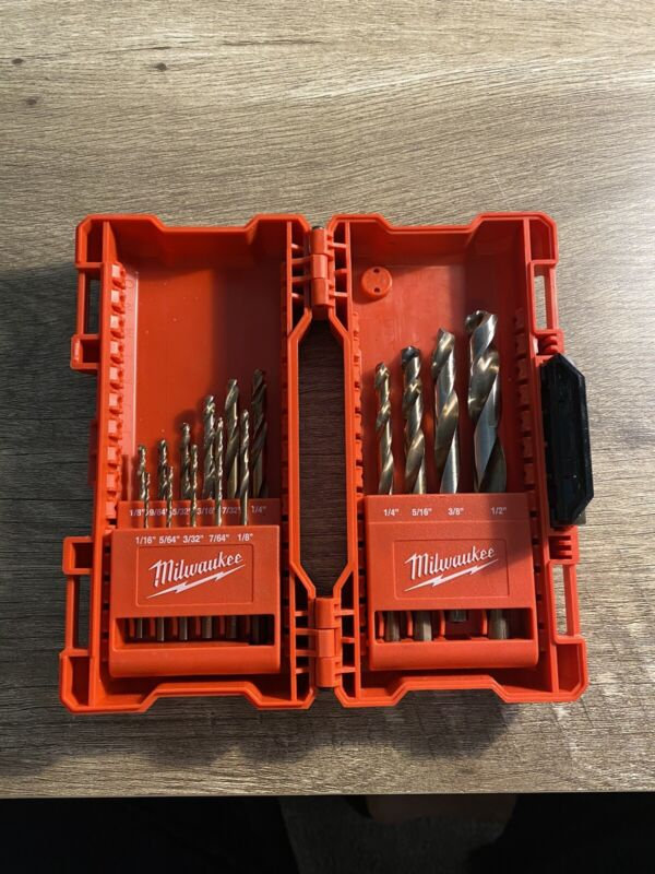 Milwaukee Cobalt Red Helix Drill Bit Set 15pc. 48-89-2331