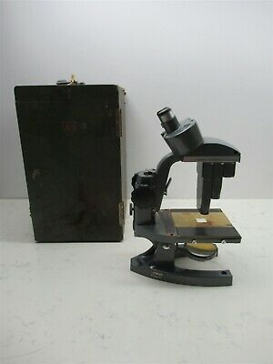 Vintage Bausch Lomb Binocular Stereo Zoom Microscope With Case 1x 3x 7.5x