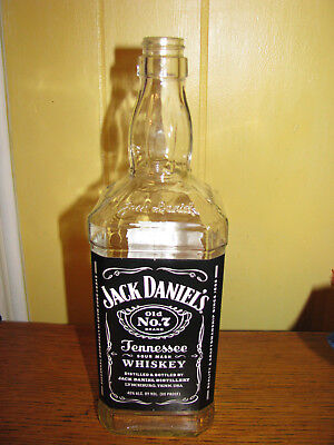 JACK DANIELS TENNESSEE SOUR MASH WHISKEY OLD NO. 7 EMPTY BOTTLE 1 LITER  for sale  Cumberland Furnace