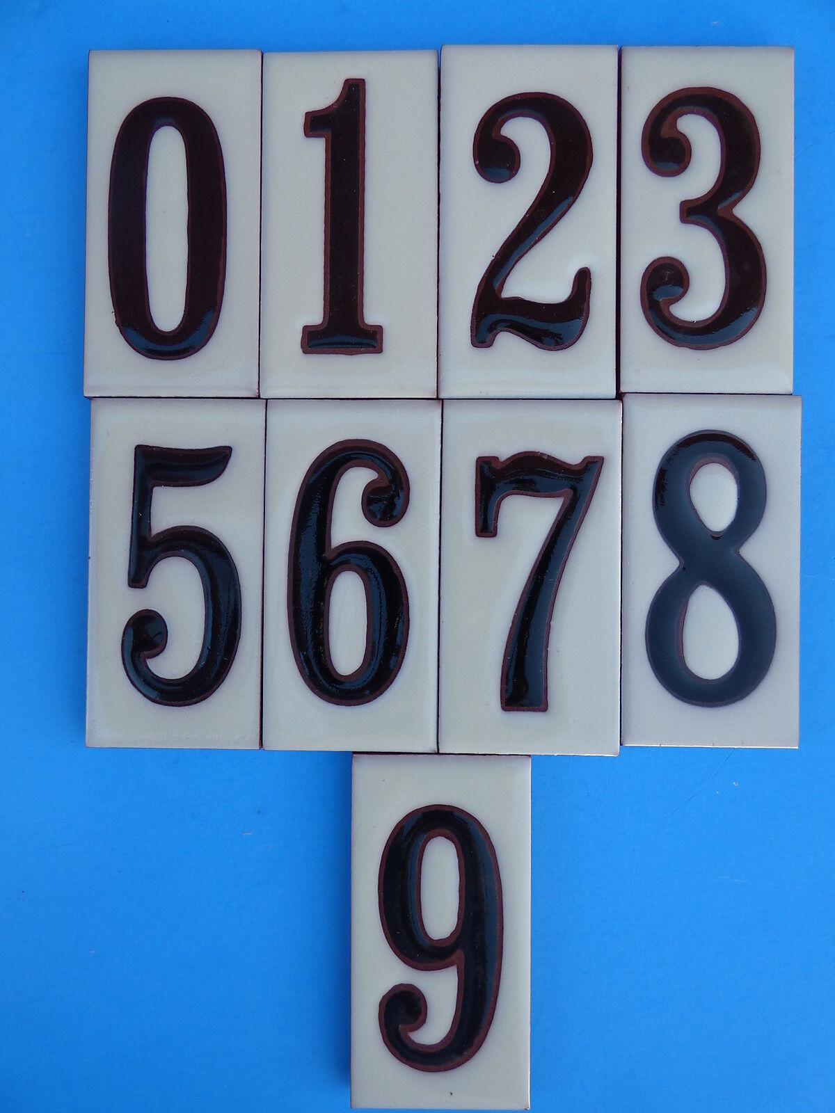 Tile art home dcor men ceramic art tile house address numbers 2x4 black numbers on cream background dailygadgetfo Choice Image