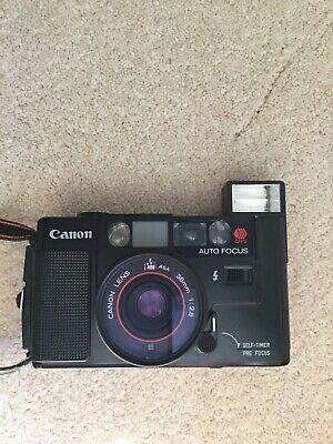 Canon AF35M Camera 38mm 1:2.8 Lens With Canon AF35M Case.