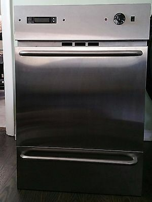 Summit stainless steel WTM7212KWSS in-wall gas oven, 24""