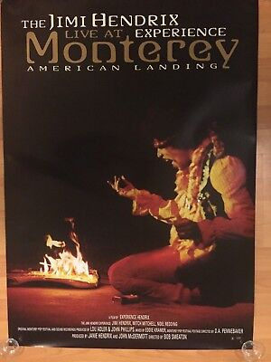 "Jimi Hendrix Experience Live at Monterey American Landing 27"" x 39"" Promo Poster"