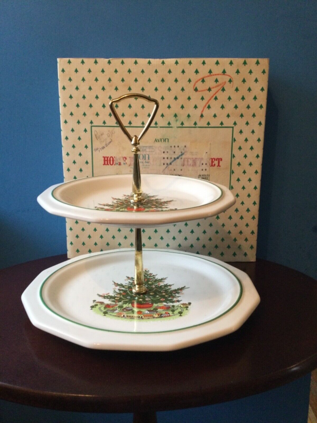 Avon / Pfaltzgraff Company Christmas Heritage Tier Tray - $18.00