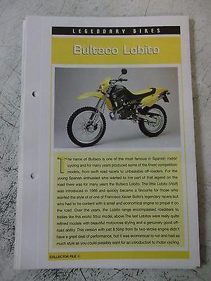 BULTACO LOBITO collector file fact sheet.