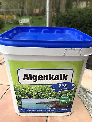Buchsbaum retten!  Algenkalk  in Pulverform 6 kg Eimer fein zum Streuen Blätter  (Pulver Dünger)