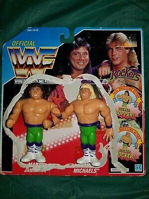 The Rockers WWF Hasbro Marty Shawn Loose Figure Blue Card