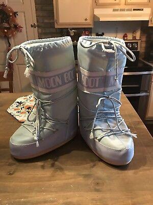 Technically The Original Moon Boot Womens Powder Blue Snow Boots Eu 35 38 Us 4 7