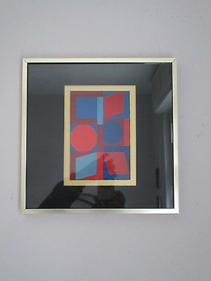 Tolles Vintage Bild-graphisches Design-Helios-gerahmt-70's Design