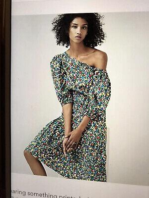 Isa Arfen Tutti Frutti Uk 16 Dress Off Shoulder Azymetrical Heam Bnwt £180.00