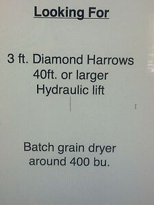Looking for a set of diamond harrows