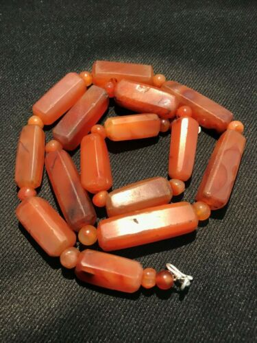 A beautiful old Pre Angkor carnelian beads necklace from Cambodia