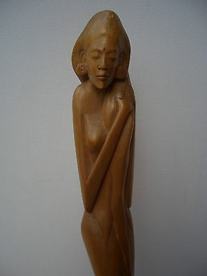 Fine Balinese Bali Deco Figure 1930s Indonesia Signed
