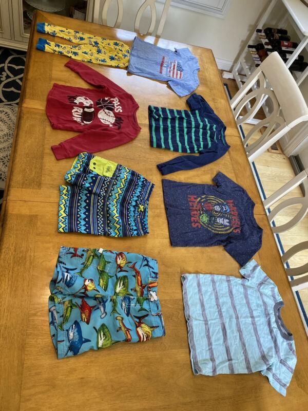 Boys 4t Clothing Lot, Swimming Shorts, Shirts, Etc