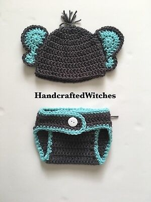 Hand Crochet Elephant Outfit Baby Photography Prop, Newborn Elephant Costume.](Newborn Elephant Costume)