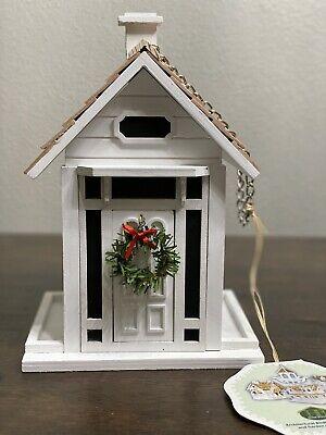 Home Bazaar White Cottage Birdhouse - New!