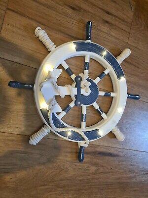 Ships Wheel Light Up Wall Ornaments