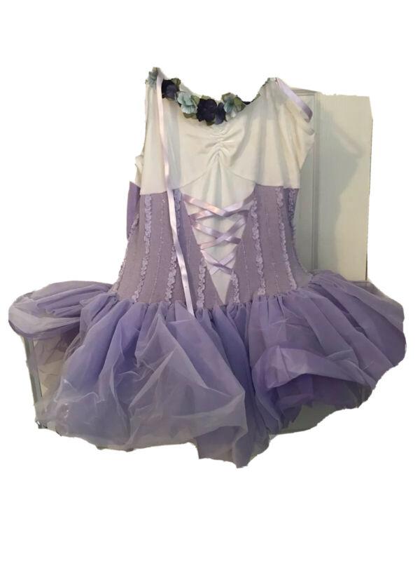 Curtain Call Tutu Dance Costume Size Adult Large Purple