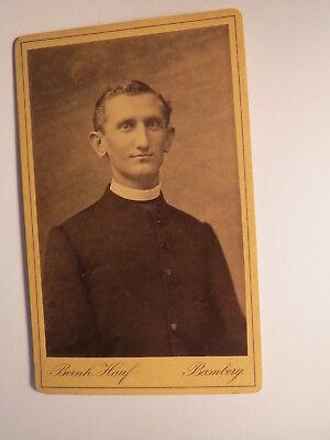 Bamberg - junger Mann - Geistlicher - Priester ? Portrait / CDV