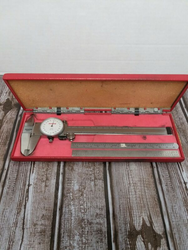 "PEACOCK 6"" Dial Caliper 20-431 .001"" - 6"" w/Case Made in Japan."