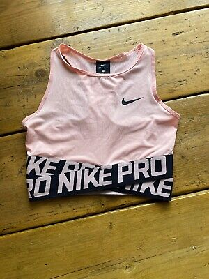 Pink Nike Pro Sports Bra Crop Top Size S Small 6 8
