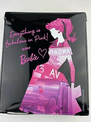 Barbie Doll Black Case Everything Is Fabulous In Pink Mattel Broadway NEW YORK