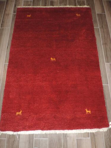 4x6ft. Handmade Afghan Gabbeh Wool Rug