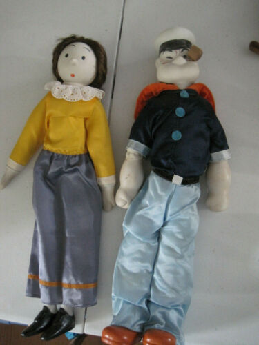 vintage Popeye and Olive porcelain dolls Mingguo Co.  Jui Shan Co.