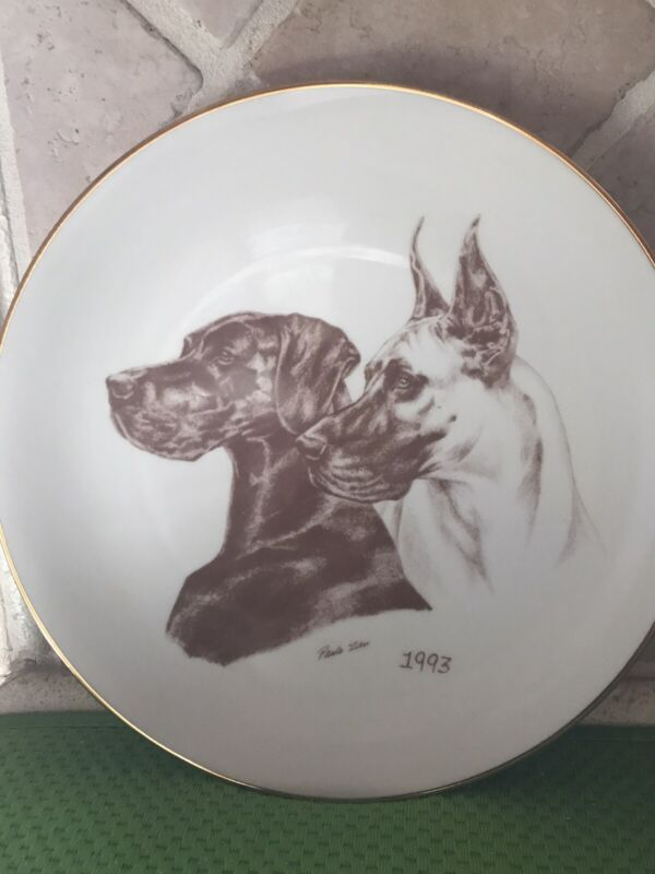 Laurelwood Plate 1993 Great Dane Limited Edition of 150