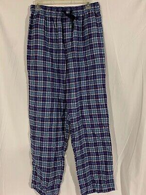 • Nautica Sleepwear Mens Long Sleep/Lounge Pants Medium PJ pajama Flannel Plaid