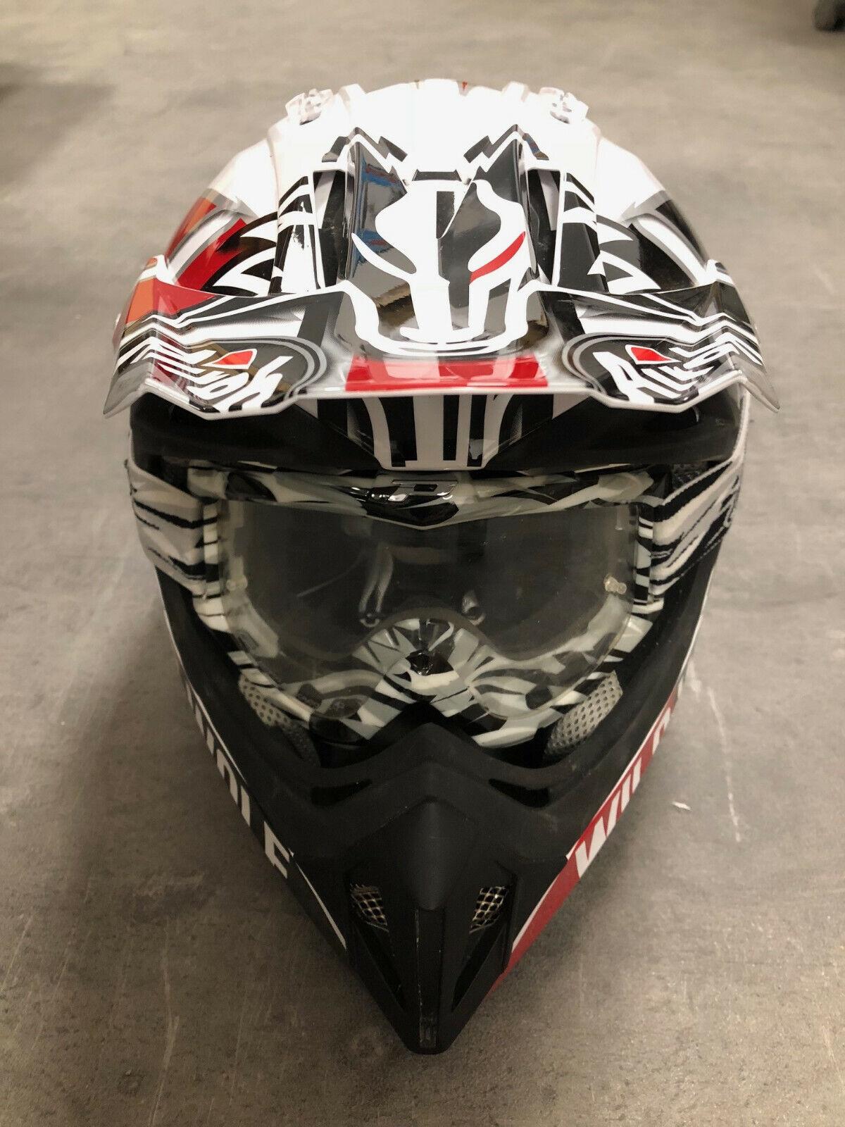 Casque visière + lunettes de protection moto cross adulte taille xl helmet