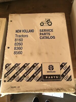 New Holland 8160826083608560 Tractor Service Parts Catalog 60 Series Manual