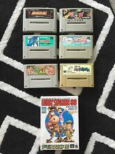 7 Super Nintendo snes games one boxed as new Japanese games Nundah Brisbane North East Preview