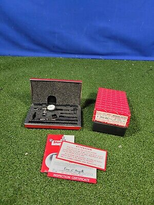 Starrett 711 Last Word Dial Indicator With Case .001 Machinist Tool