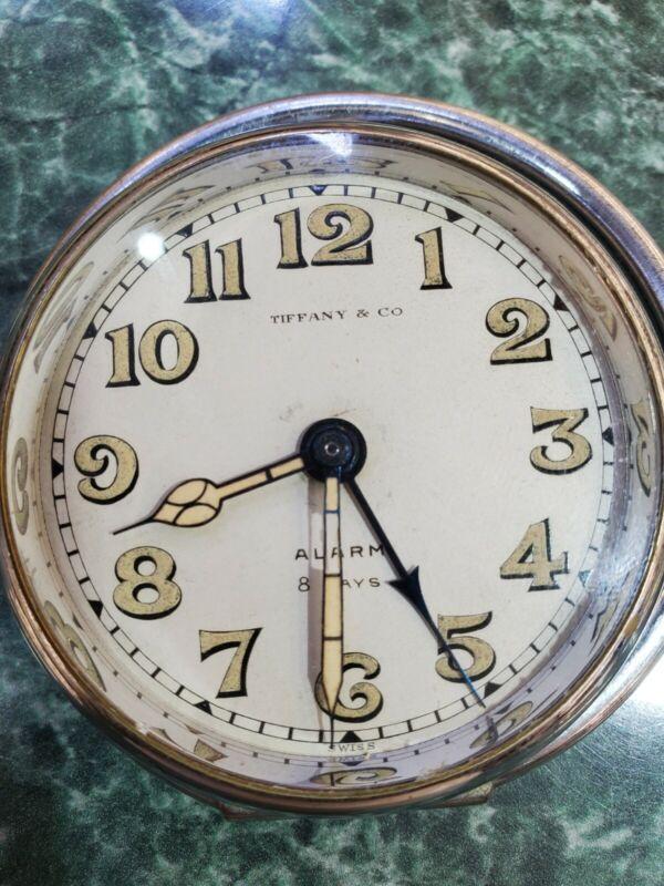 Tiffany & CO alarm 8 days clock