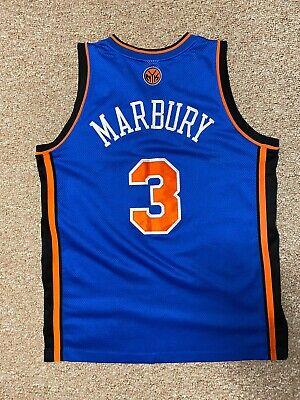 REEBOK Authentic STEPHON MARBURY #3 New York NY Knicks Jersey Size 44 L NBA
