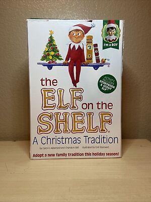 Elf on the Shelf Blue Eye Boy Doll & A Christmas Tradition Book (OPEN BOX)